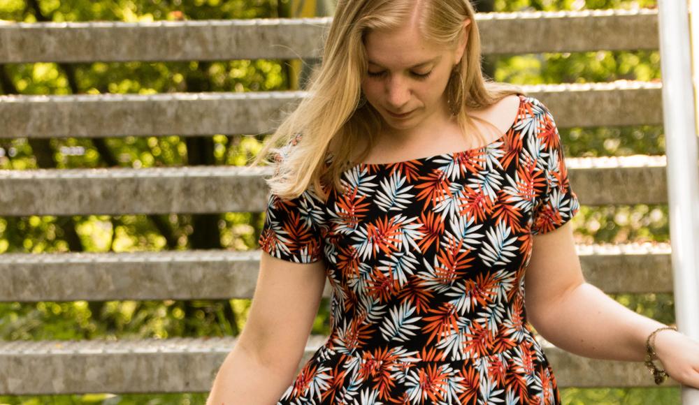 Moneta jurk Jungle Leaves