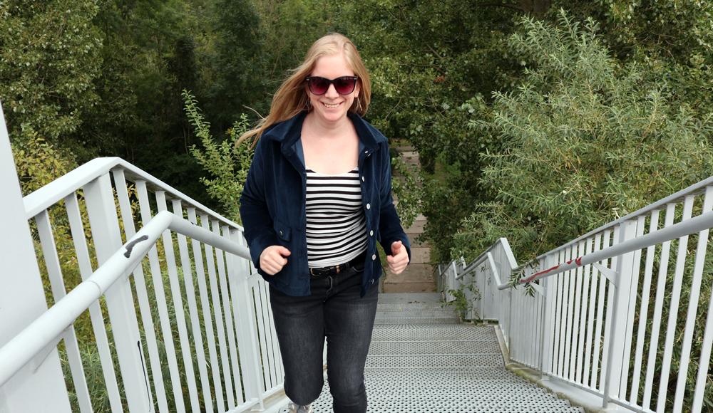 Corduroy jasje jeansknopen
