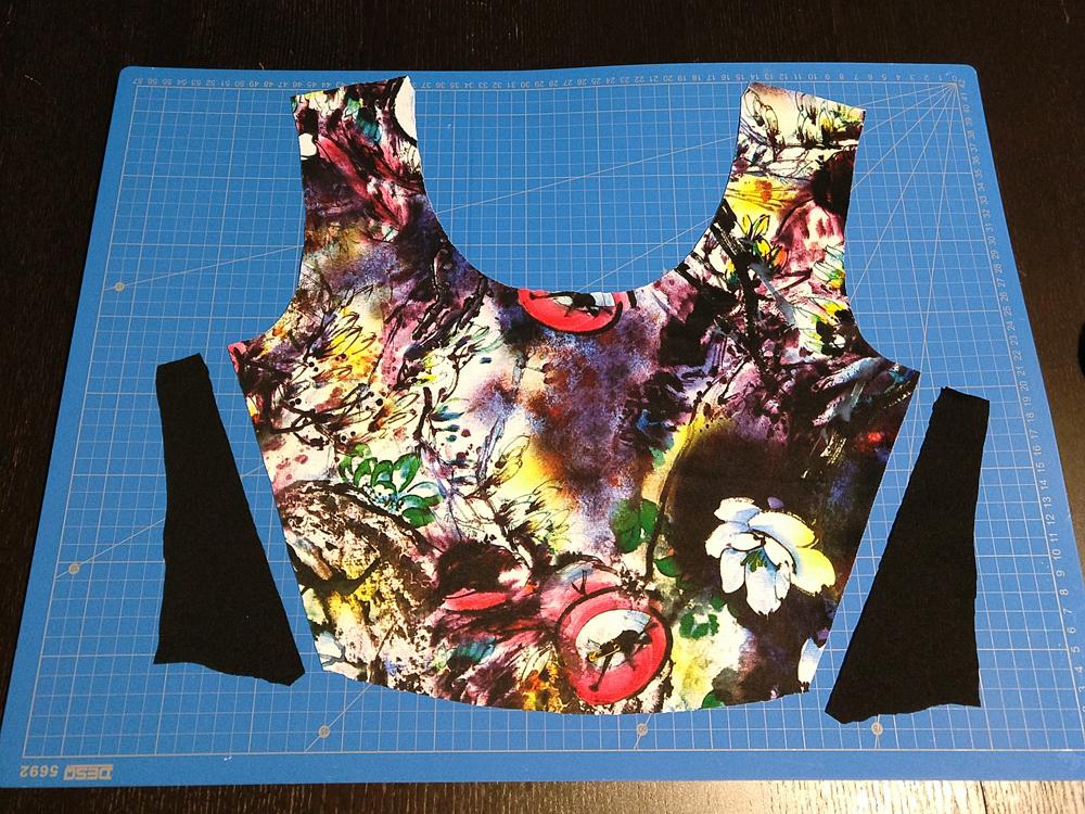 Colorblock lijfje jurk